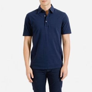 Everlane Shirts - Everlane men's navy shirt sleeve polo shirt